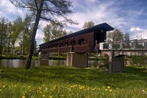 Dřevěný most v Kynšperku