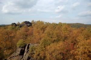 skalní útvary u Jeřabiny