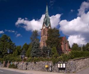 kostel v Hammerunterwiesenthalu