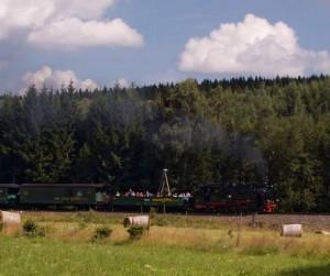 mašinka na trati Oberwiesenthal - Cranzhal