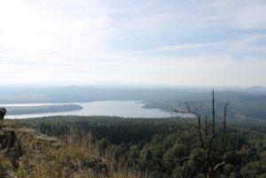 Přísečnická přehrada z Jelení hory